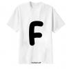 เสื้อยืด ตัวอักษร F