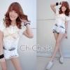 C157 พร้อมส่ง เสื้อลูกไม้ตัวยาวลายสวย สีขาว น่ารักๆค่ะ