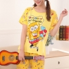ชุดนอนแขนสั้นลายการ์ตูน สพันจ์บ็อบ (SpongeBob) Set1