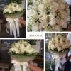 ช่อดอกกุหลาบ สีขาว