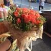 ช่อดอกกุหลาบสีโอรส