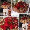 ช่อดอกกุหลาบสีแดง