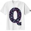 เสื้อยืด ลาย ตัวอักษร Q