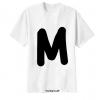 เสื้อยืด ตัวอักษร M
