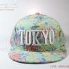 หมวกแก๊ปแฟชั่น ลาย Tokyo สีเขียว