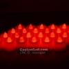 เทียน LED เทียนใส่ถ่าน เปลวไฟกระพริบเหมือนไฟจากเทียนจริง แสงสีแดง