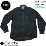 C1618 เสื้อลายสก๊อตผู้ชาย สีเทา Columbia