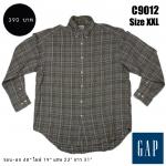 C9012 เสื้อเชิ้ตลายสก๊อตสีเทา GAP ไซส์ใหญ่