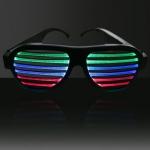 แว่นตามีไฟ แว่นตามีไฟ LED กระพริบตามเสียง และจังหวะเพลง แบบชาร์จได้