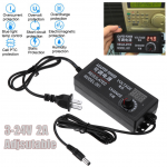 ADE01 อะแดปเตอร์ Adapter ปรับโวล์ทได้ 3-24 V 2 A หัวเสียบ 5.5 X 2.5 mm สำหรับ ชาร์จ โน๊ตบุค หรือแบตสว่านไร้สาย