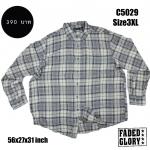 C5029 เสื้อลายสก๊อต ผู้ชาย สีเทา FADED GLORY