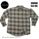 C8040 เสื้อลายสก๊อตผู้ชาย มือสอง