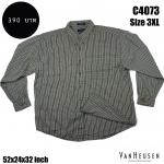 C4073 เสื้อเชิ้ตลายสก๊อต ผ้าบางไซส์ใหญ่ ยี่ห้อ VANHEUSEN