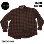 C6001 เสื้อเชิ้ตผู้ชายลายสก๊อต ไซส์ใหญ่