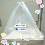 ถุงพลาสติกใส สำหรับใส่กล่องพิซซ่าขนาด 14นิ้ว 12 นิ้ว