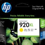 ตลับหมึกอิงค์เจ็ต ของแท้ HP 920XL Yellow สีเหลือง ราคา 580 บาท