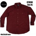 C7030 เสื้อเชิ้ต สีแดง