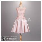 sd1071 ขาย ชุดงานหมั้น สีชมพู สวยหวานหรูกับผ้าลูกไม้อย่างดี กระโปรงทวิสต์ ผ้าซาตินเนือ้เงา น่ารักมากค่ะ
