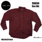 C6034 เสื้อลายสก๊อตสีแดง Eddie Bauer ไซส์ใหญ่
