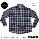 C0159 เสื้อลายสก๊อตผู้ชาย Converse