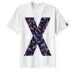 เสื้อยืด ลาย ตัวอักษร X