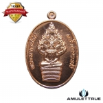เหรียญพระนาคปรก เนื้อทองแดง รุ่น สร้างบารมี หลวงพ่อฟู วัดบา่งสมัคร ปี 2558