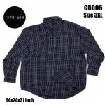 C5006 เสื้อลายสก๊อตสีเข้ม ไซส์ใหญ่