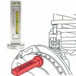 CR01 เกจวัดตั้งศูนย์รถยนต์ DIY สำหรับตรวจเช็คศูนย์ล้อรถยนต์