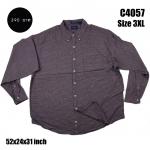 C4057 เสื้อเชิ้ตผู้ชาย ลายสก๊อต คนอ้วน พร้อมส่ง