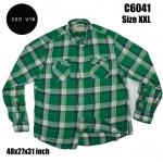 C6041 เสื้อลายสก๊อตสีเขียว ไซส์ใหญ่