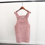 ชุดเอี้ยมผ้าลูกฟูกสีชมพู