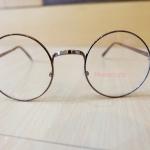 แว่นตากรอบแว่นทรงกลมวินเทจสีทองแดง