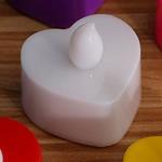 เทียน LED เทียนไฟฟ้าใส่ถ่าน มีไฟกระพริบเสมือนเทียนจริง รูปหัวใจ