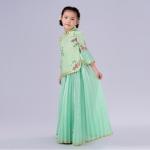 Pre-order ชุดอาเซียน / Size 130 / สีเขียว
