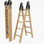 AC01 ข้อต่อบันไดพับ 5.5x2.7 CM ปรับได้ 5 ระดับ สำหรับ DIY ทำบันได หรือเตียง โต๊ะ อื่นๆ