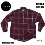 C5054 เสื้อลายสก๊อตสีแดงเข้ม ไซส์ใหญ่ Eddie Bauer