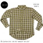 C0135 เสื้อลายสก๊อตสีเหลืองผ้าบาง