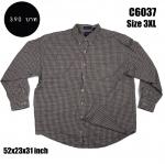 C6037 เสื้อเชิ้ตลายสก๊อต ผู้ชาย ไซส์ใหญ่