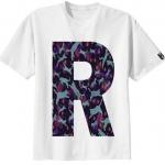 เสื้อยืด ลาย ตัวอักษร R