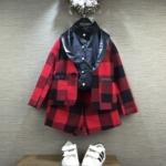 Pre-order เสื้อ+กางเกง / แพ็คละ 5 ตัว /สีแดง