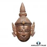 เศียรพระลักษณ์หน้าทอง รุ่นสมปรารถนา (รุ่นแรก) เนื้อนวะโลหะ หลวงพ่อเอิบ วัดซุ้มกระต่าย ปี2555