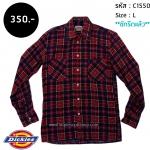 C1550 เสื้อลายสก๊อต สีแดง Dickies