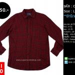 C1917 เสื้อลายสก๊อต ผู้ชาย สีแดง Uniqlo