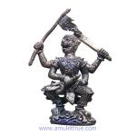 พญาชิงชัยหนุมานศรีวิชัย รุ่น อิทธิฤทธิ์เขาอ้อ รุ่นแรก เนื้อโลหะผสมรมดำ ปี2550