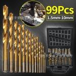 D13 ชุดดอกสว่าน 99 ชิ้น ไทเทเนียมCoated1.5mm-10มิลลิเมตร