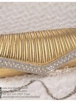 bs0011 กระเป๋าคลัช สีทอง กระเป๋าออกงานพร้อมส่ง ราคาถูกกว่าเช่า แบบสวยๆ ดูดีเหมือนดาราใช้
