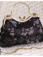 bs0014 กระเป๋าคลัช สีดำ กระเป๋าออกงานพร้อมส่ง ราคาถูกกว่าเช่า แบบสวยๆ ดูดีเหมือนดาราใช้