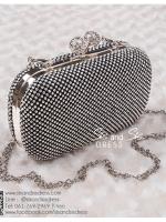 bs0006 กระเป๋าคลัช สีดำ กระเป๋าออกงานพร้อมส่ง ราคาถูกกว่าเช่า แบบสวยๆ ดูดีเหมือนดาราใช้