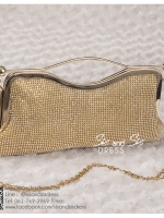 bs0018 กระเป๋าคลัช สีทอง กระเป๋าออกงานพร้อมส่ง ราคาถูกกว่าเช่า แบบสวยๆ ดูดีเหมือนดาราใช้