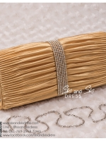 bs0001 กระเป๋าคลัช สีทอง กระเป๋าออกงานพร้อมส่ง ราคาถูกกว่าเช่า แบบสวยๆ ดูดีเหมือนดาราใช้